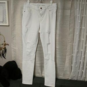 White old navy rockstar mid rise jeans